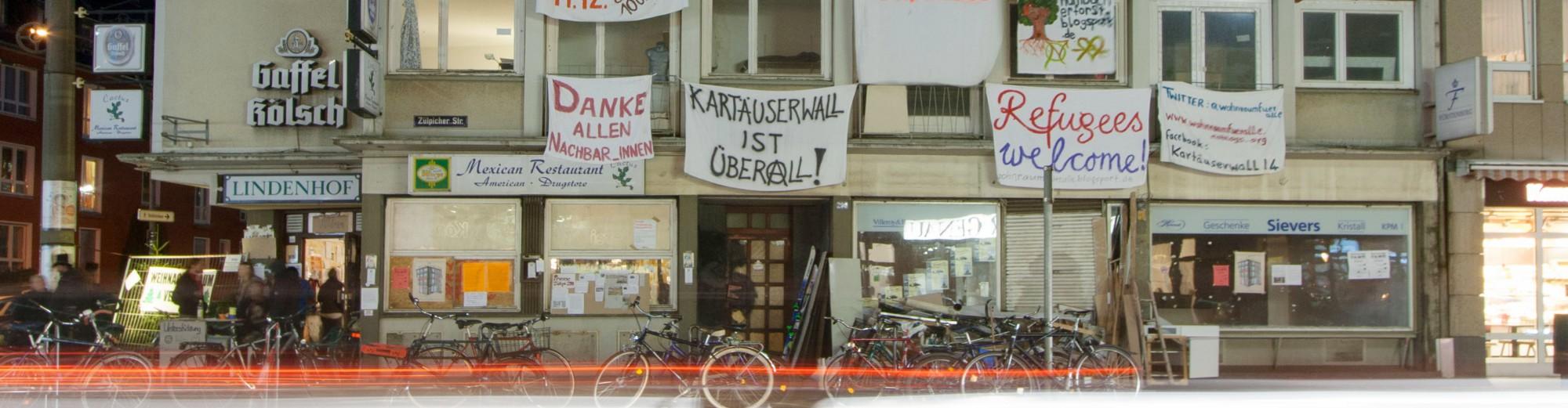 Kartäuserwall ist überall – Hausbesetzung Zülpicher Str 290